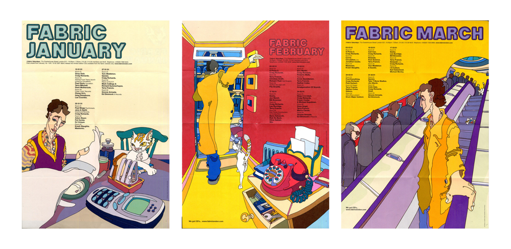 Fabric flyers — January, February & March 2001