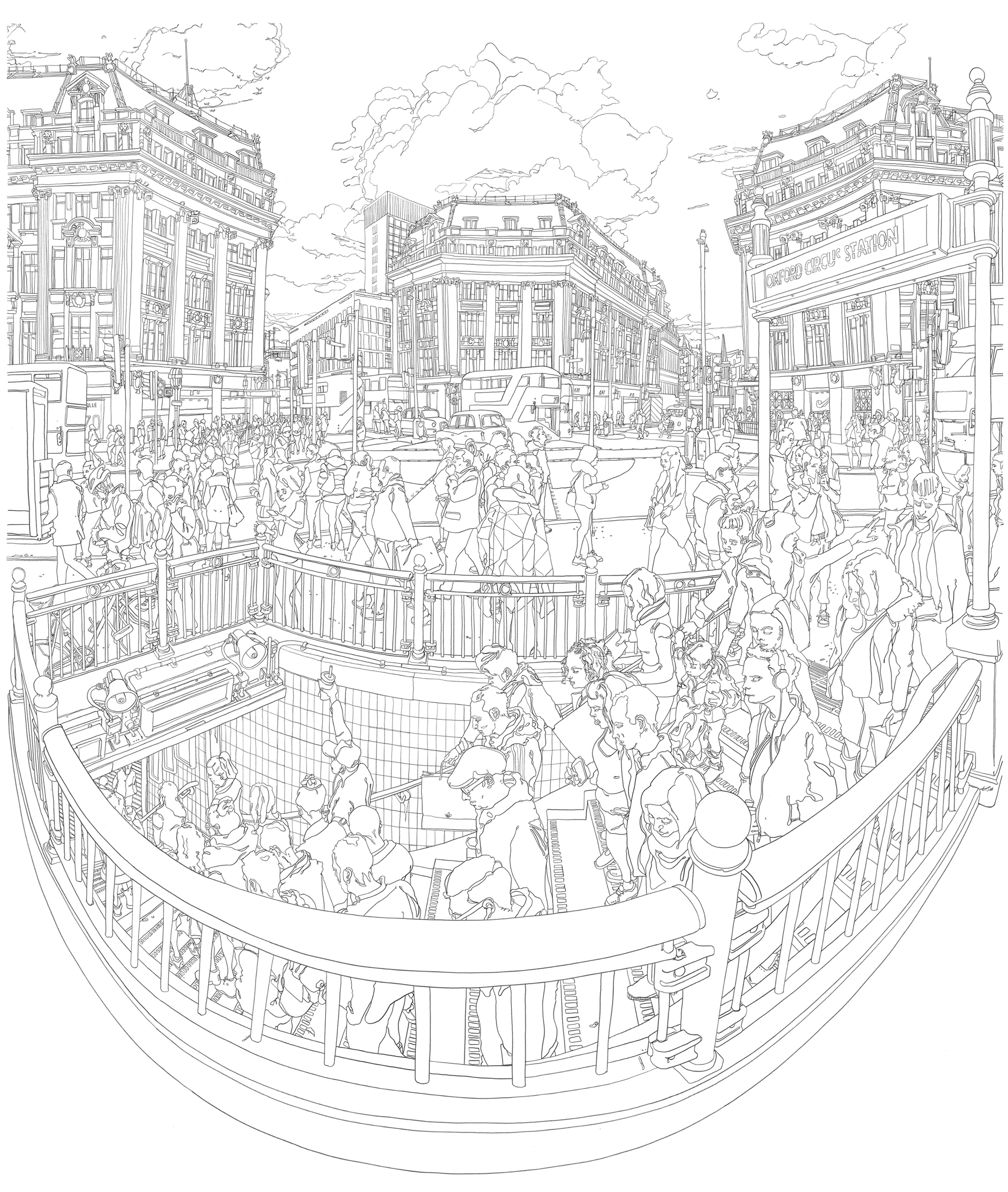 Pencil Drawing Oxford St